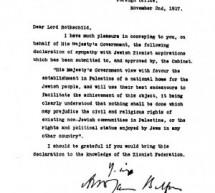A declaração balfour O recibo de venda da Palestina